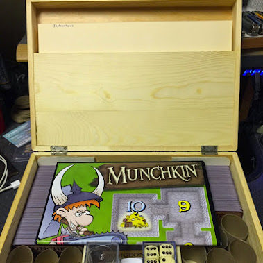 & Munchkin is an awesome game. I built a box to hold my Munchkin cards.