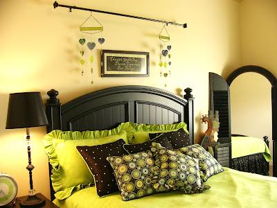 Green And Black Bedroom green and black bedroom