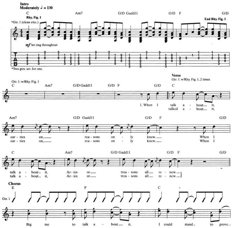 Foo Fighters Big Me Guitar Tab