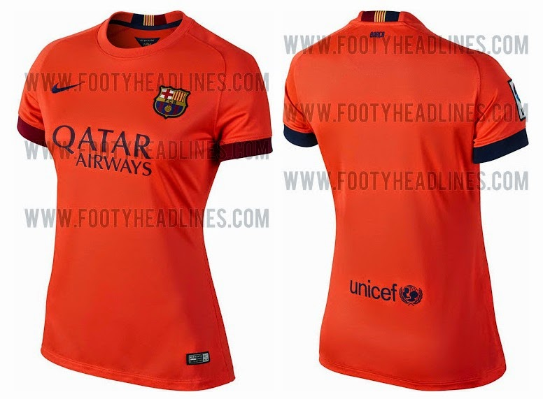 The orange kit which will be the new away kit features an all orange design  from nike with blue red colour application. The collars are blue while the  text ... 63e8e73eb