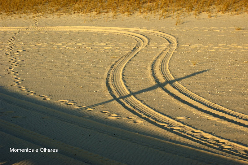 Nas Dunas em Troia, marcas na areia