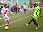 L'As.V Club (vert noire) de la RDC contre Zamālek (blanc) de l'Egypte le 18/05/2014 au stade Tata Raphael à Kinshasa, dans le cadre de la ligue des champions 2014 de la CAF, score: 2-1. Radio Okapi/Ph. John Bompengo