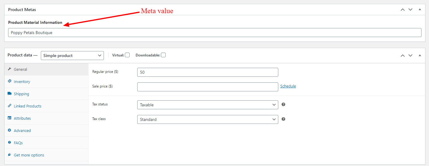 add ACF Filed value into feed step 4