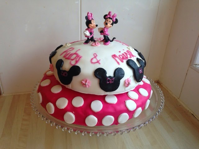 How To Make A Two Tier Minnie Mouse Birthday Cake Feat Cake Angels
