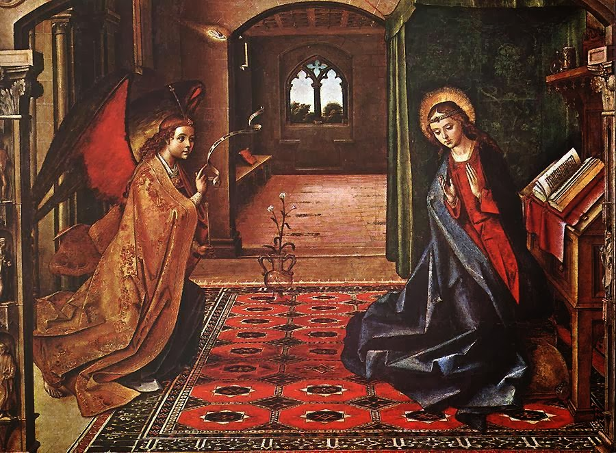 Pedro Berruguete - Annunciation panel.