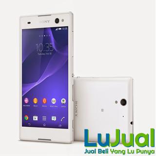Tampilan Depan Belakang Putih - Sony Xperia C3 Dual Sim | LuJual