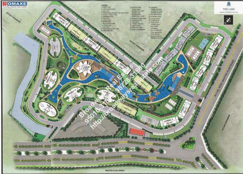 Omaxe Lake Apartment Site Plan
