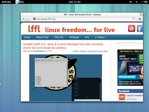Gnome Shell - le scorciatoie da tastiera per catturare immagini e video del nostro desktop