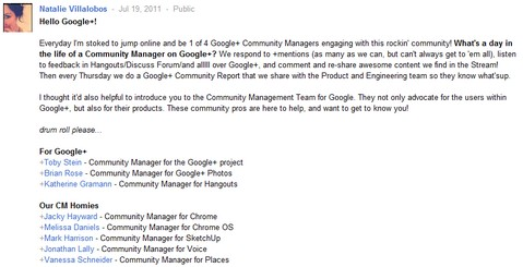 Google+ Use Case: Customer Service