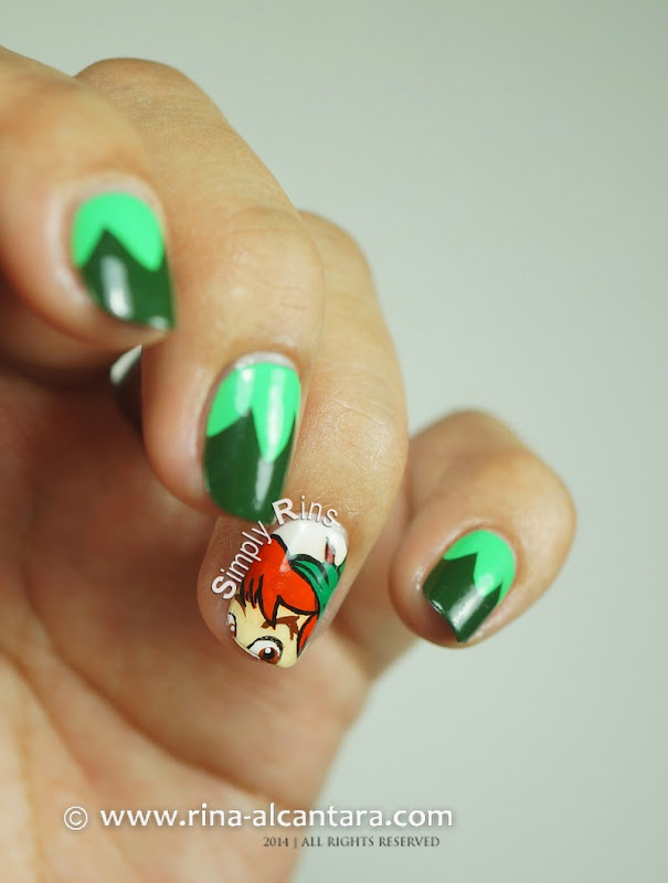 Peter Pan Nail Art by Rina Alcantara