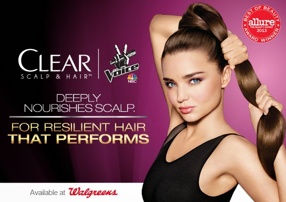 The Voice, Clear Scalp & Hair, and Walgreens