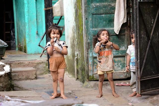 slum children, India