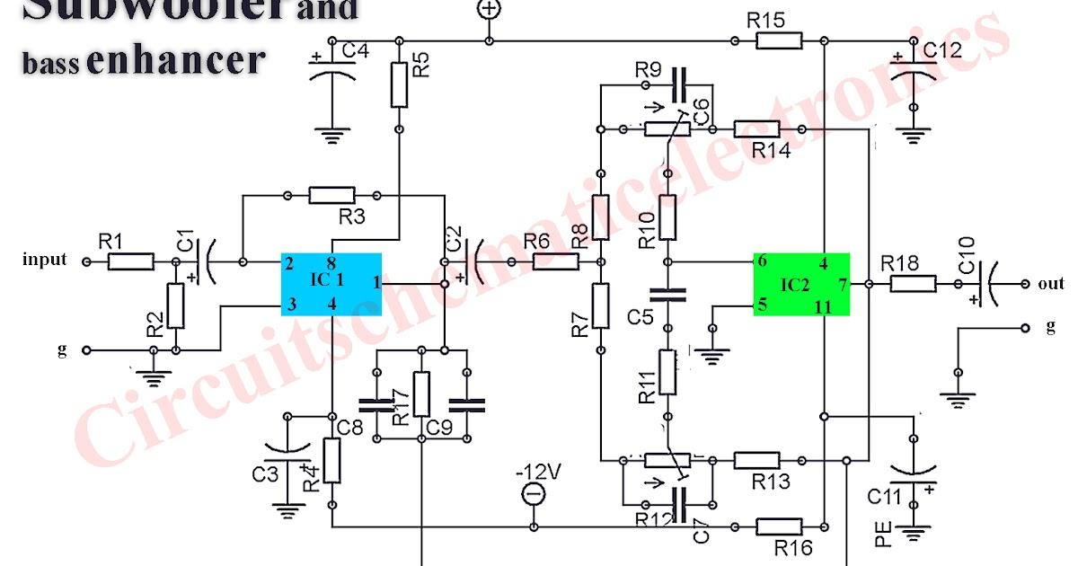 4558 tone control circuit diagram