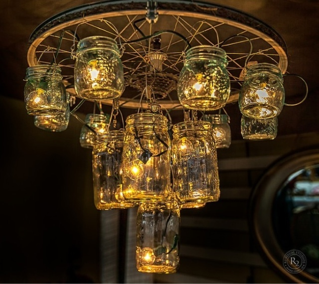 mason jar chandelier the stylish nest. Black Bedroom Furniture Sets. Home Design Ideas