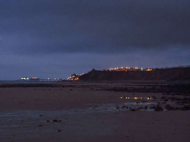 lights of Cromer in late twilight