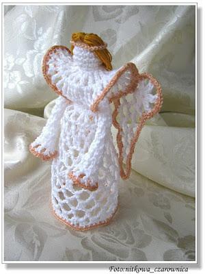 szydełkowy anioł