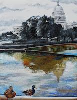 """True self"" 24x28 /oil on canvas-zipper/ Art in City Hall Show"