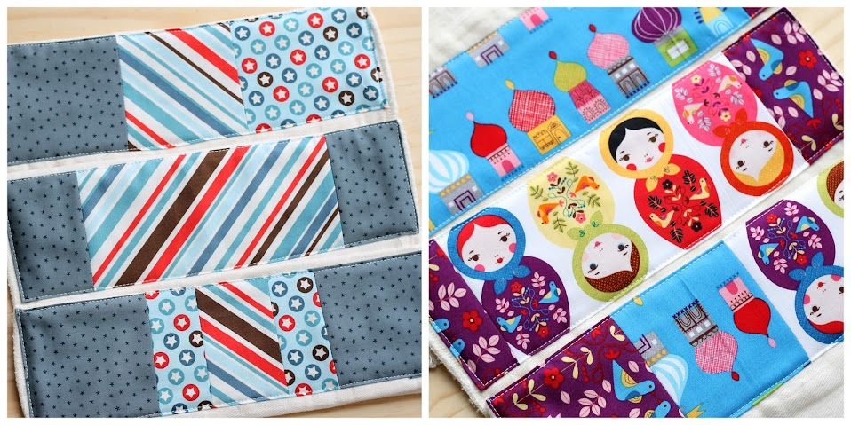 Quilted Burp Cloth Cotton Diapers Tutorial: I want to make these for every baby shower!