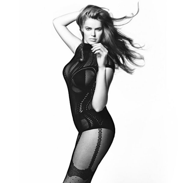 Robyn Lawley Black and White Editorial