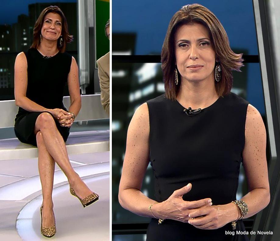 moda do programa Domingo Espetacular - look da Janine Borba dia 7 de setembro