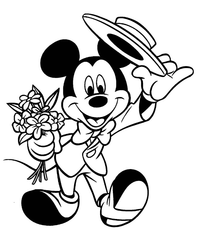 Mickey Mouse gentleman coloring pages