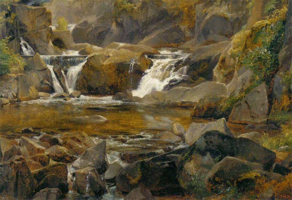 Théodore Rousseau - A stream with dam in Auvergne, 1830