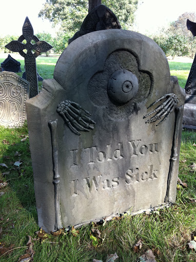 I liked this headstone the best.