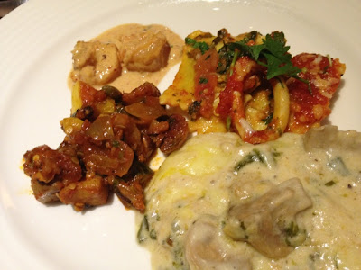Lady's second plate at Petals Restaurant, Rose Rayhaan by Rotana