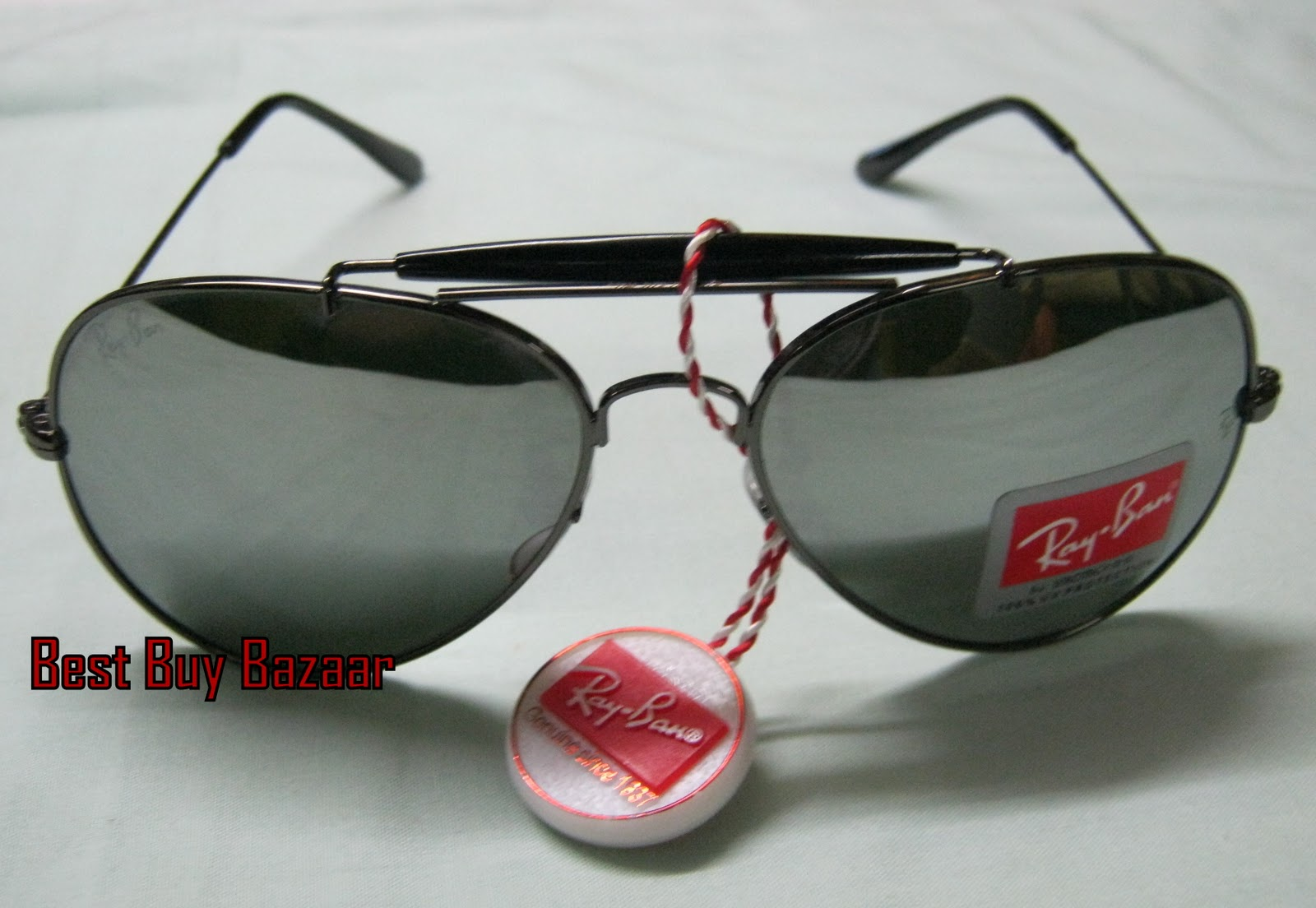 Ray Ban Outdoorsman Sunglasses Rb Silver Mercury Mirror