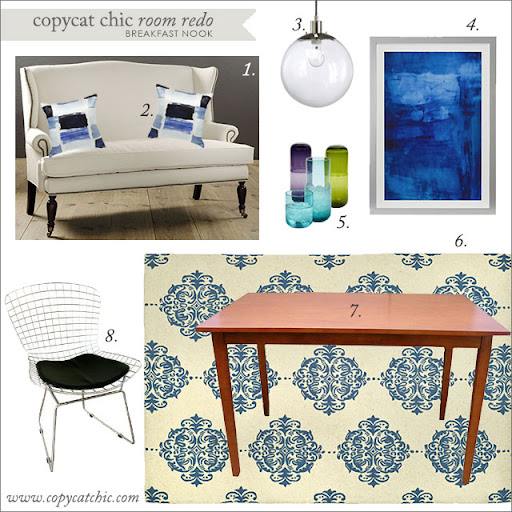 Copy Cat Chic Room Redo Breakfast Nook Copycatchic