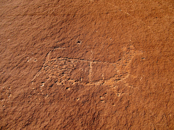 Petroglyphs in the crack