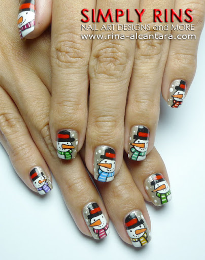 Snowman Parade Nail Art Design