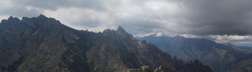 Depuis le sommet du Turone, Cima a i Mori et dent d'Ascu
