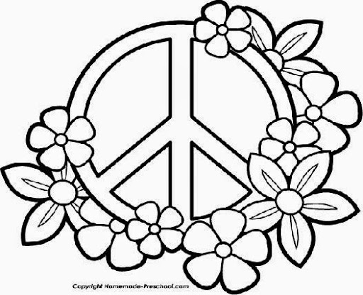 Peace Sign Coloring Pages Draw Coloring Pages Love