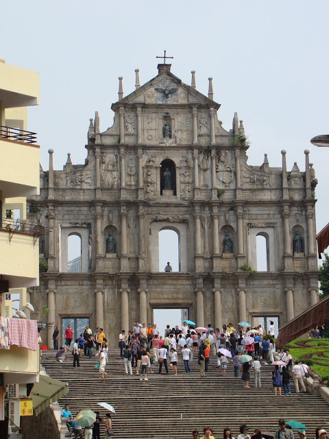 The famous steps in Macau