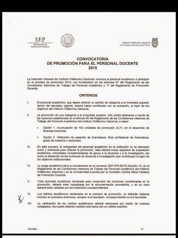 Profesores de upiicsa convocatoria de promoci n docente 2015 for Convocatoria profesores 2016