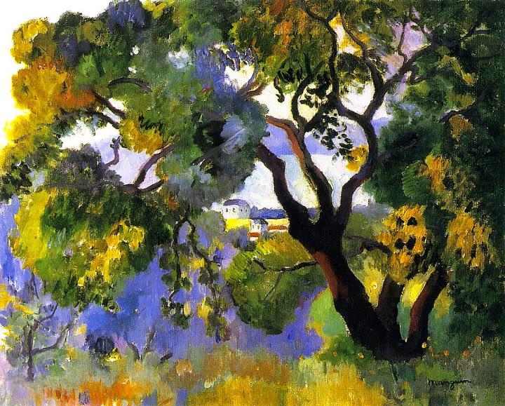 Henri-Charles Manguin - Landscape at St Tropez , 1905