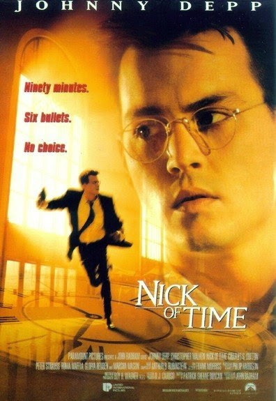 Poster Of Nick of Time (1995) Full Movie Hindi Dubbed Free Download Watch Online At alldownloads4u.com