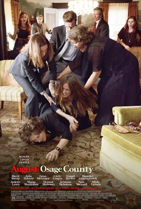 August Osage County promo art, with Meryl Streep, Julia Roberts, Ewan McGregor
