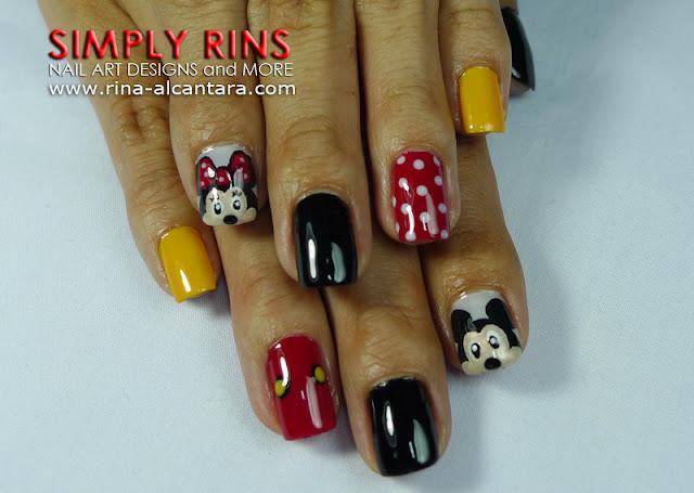 Mickey Mouse nail art design 04