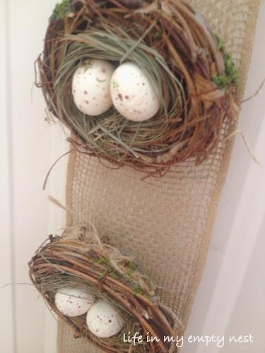 nest egg burlap banner