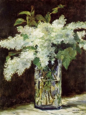 Lilacs in a vase - E. Manet