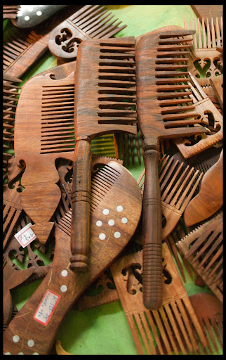 Hand Carved Wooden Combs
