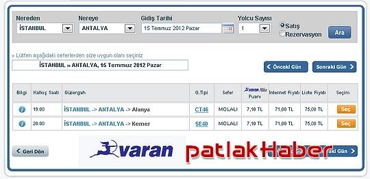 varan+turizm+istanbul+antalya+otobüs+bilet+fiyatları