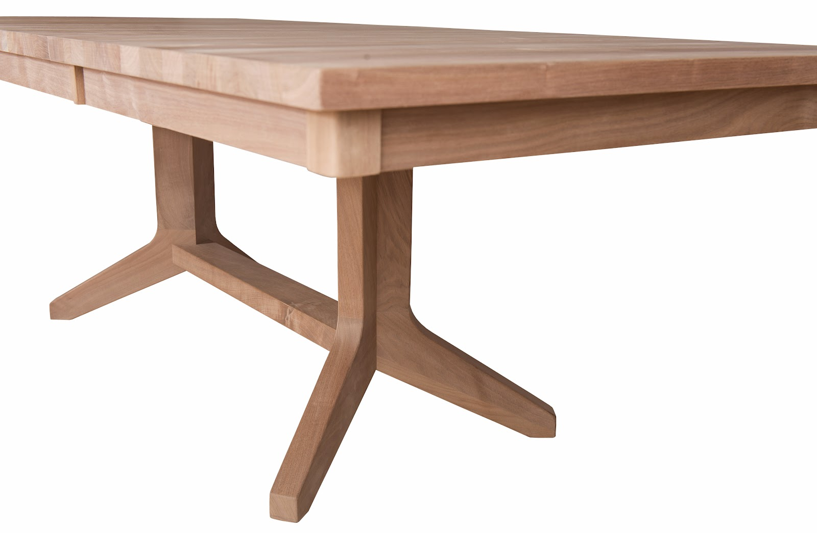 austin dining table built to order from solid hardwood the austin is a