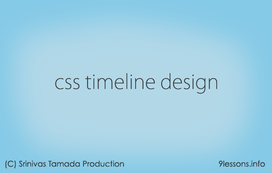 Timeline Design CSS and Jquery