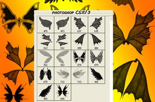 fantasy wings photoshop brushes