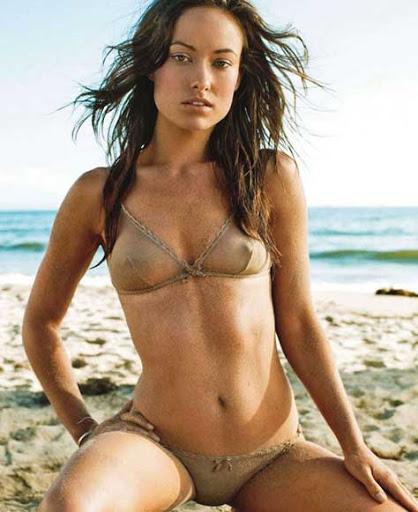 Olivia Wilde en la playa