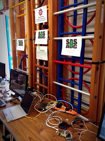 The Surrey and Sussex Acorn User Group display.