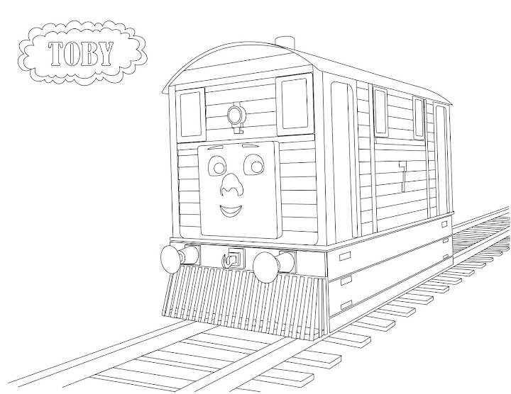 Stanley the tram engine coloring pages ~ Toby the Tram Engine Coloring Page | Coloring Funs